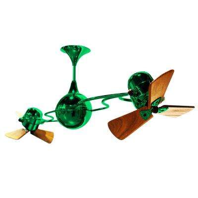 Green ceiling fans lighting the home depot italo ventania 62 in indooroutdoor green ceiling fan aloadofball Gallery