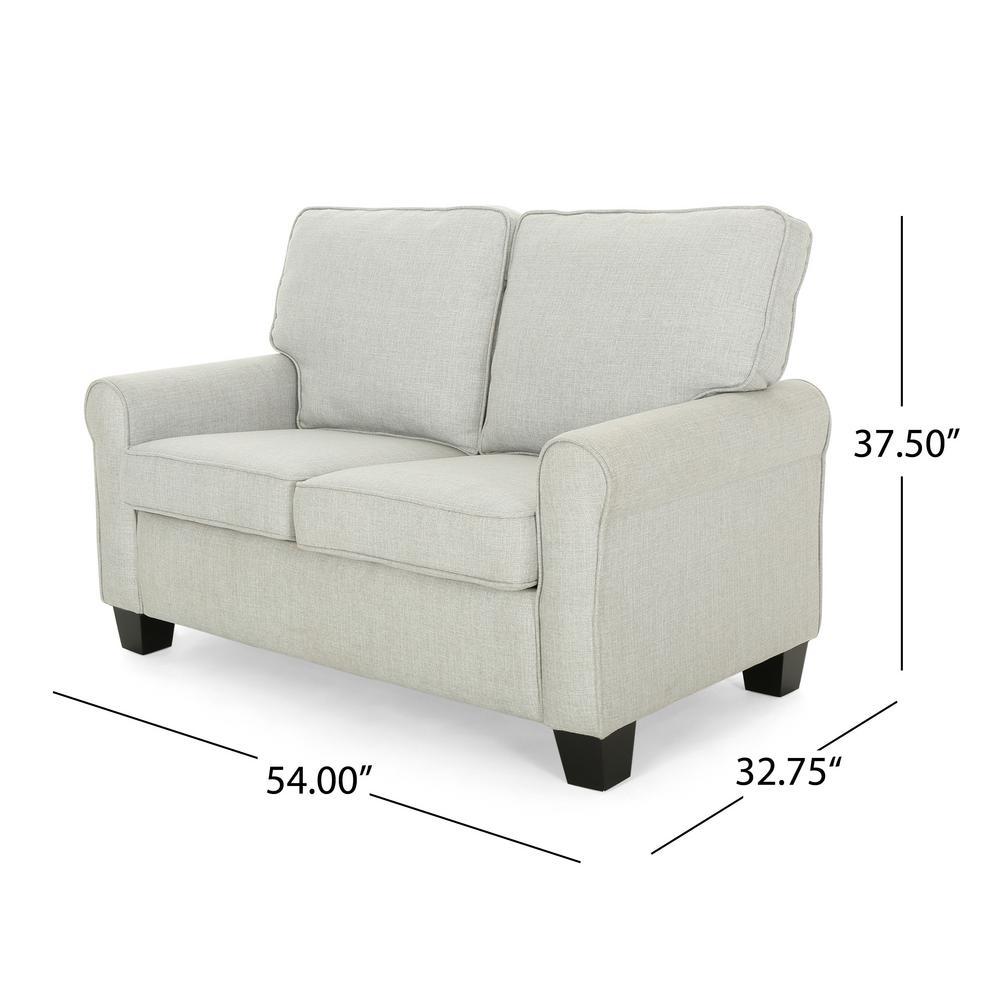 Admirable Noble House Bernietta Mid Century Modern Light Gray Fabric Machost Co Dining Chair Design Ideas Machostcouk