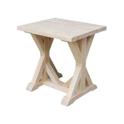 Farmhouse Unfinished End Table