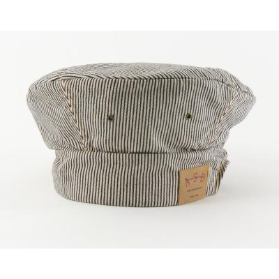 Adjustable Railroad Denim Chef's Toque, Stripe