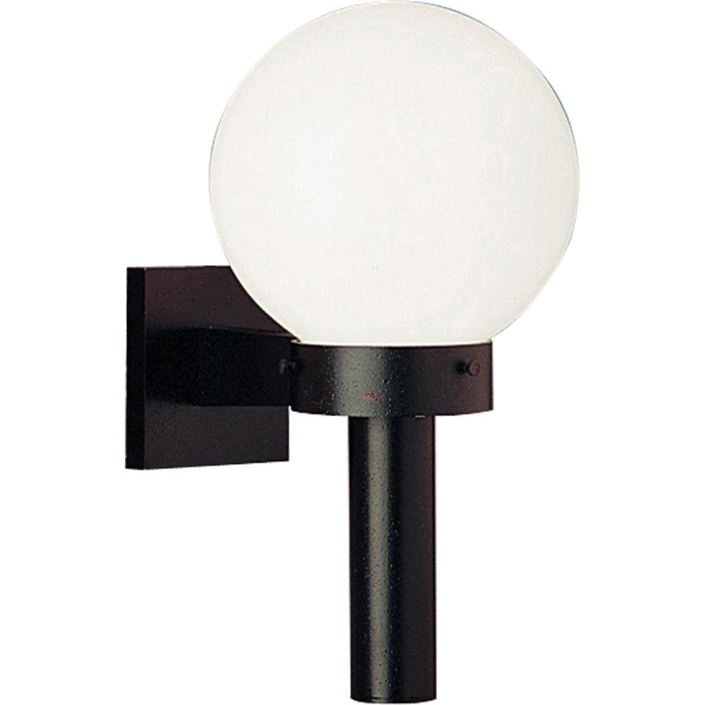 Progress Lighting Globe Collection Black 15 In Outdoor