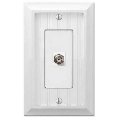 Cottage 1-Gang Coax Wall Plate - White