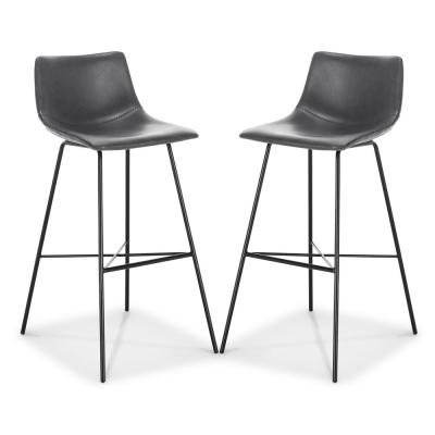 Paxton 29 in. Grey Bar Stool (Set of 2)