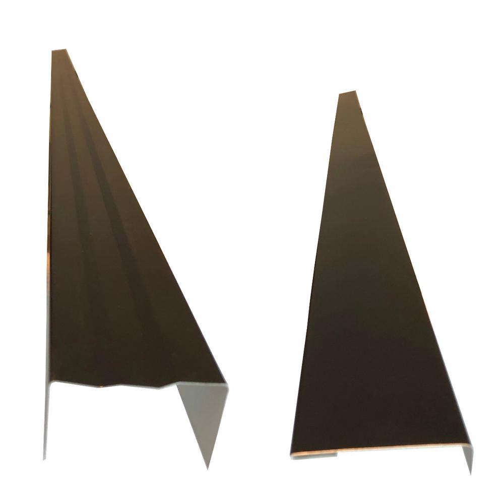 2.5 in. x 2.25 in. x 85 in. Complete Aluminum Metal Brickmold and Jamb Door Trim Cover Kit - 72 in. Door w/Siding, Black