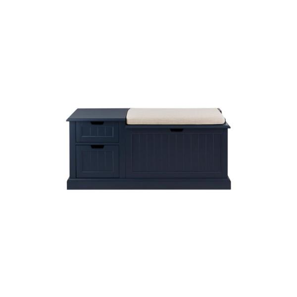 Home Decorators Collection Midnight Blue Wood Entryway Bench with Flip Top and Concealed Storage (46 in. W x 20 in. H)