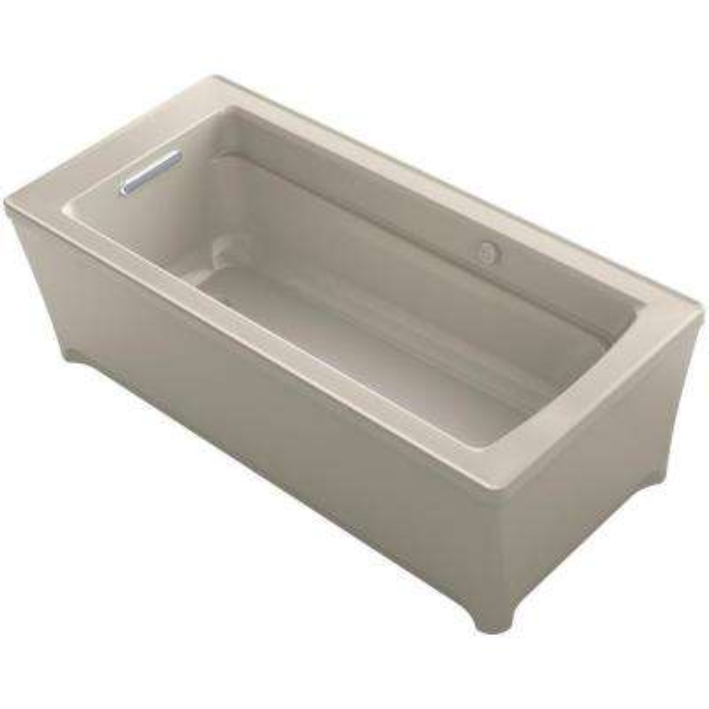 Archer 5.66 ft. Acrylic Flat Bottom Non-Whirlpool Bathtub in Sandbar