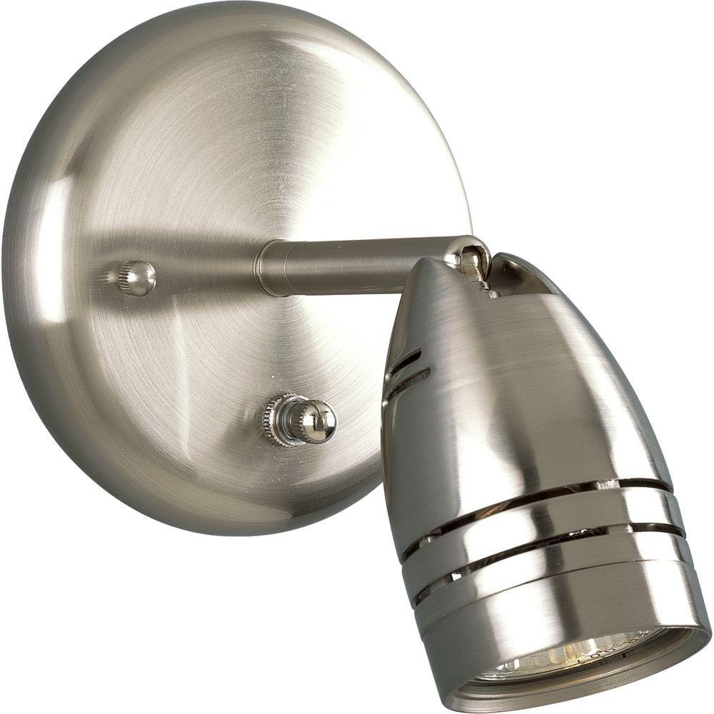 Brushed Nickel 1-Light Spotlight Fixture