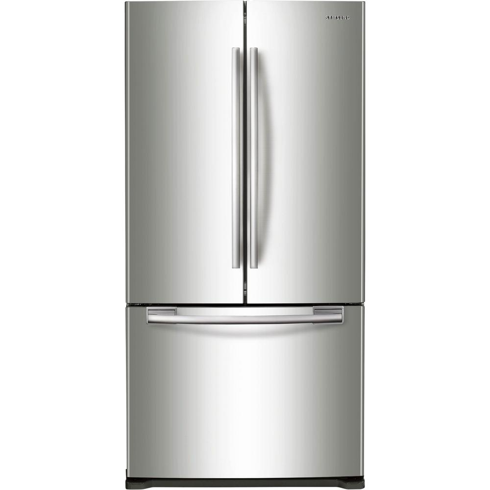Samsung 33 in  W 19 4 cu  ft  French Door Refrigerator in Stainless Steel