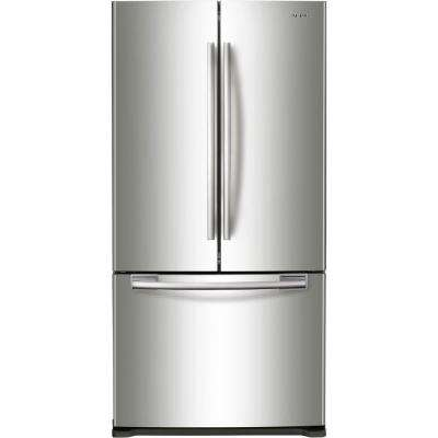 33 in. W 19.4 cu. ft. French Door Refrigerator in Stainless Steel