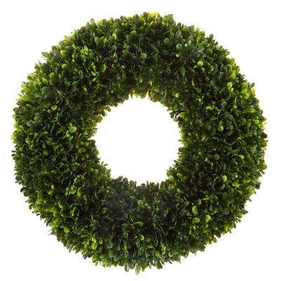 17 in. Wreath with Grapevine Base Artificial Tea Leaf