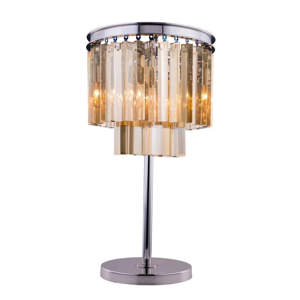 Titan lighting 27 in crystal rectangular urn table lamp tn 891498 sydney 26 in polished nickel table lamp with golden teak smoky audiocablefo