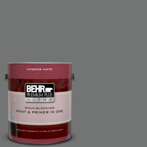 1 gal. #N520-5 Iron Mountain Matte Interior Paint and Primer in One