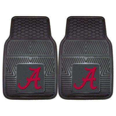University of Alabama 18 in. x 27 in. 2-Piece Heavy Duty Vinyl Car Mat