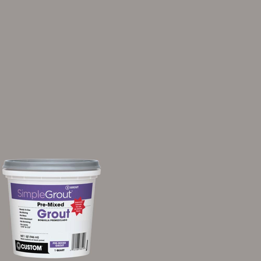 SimpleGrout #165 Delorean Gray 1 Qt. Pre-Mixed Grout