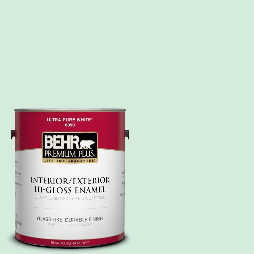 1-gal. #460C-3 Venetian Pearl Hi-Gloss Enamel Interior/Exterior Paint