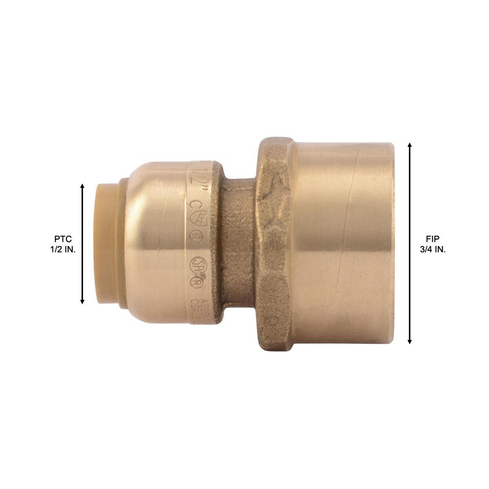 """5X ABS Garden Hose Water Pipe Connector Tube Fitting Tap Adapter 1//2/"""" /& 3//4/"""" Fp"""