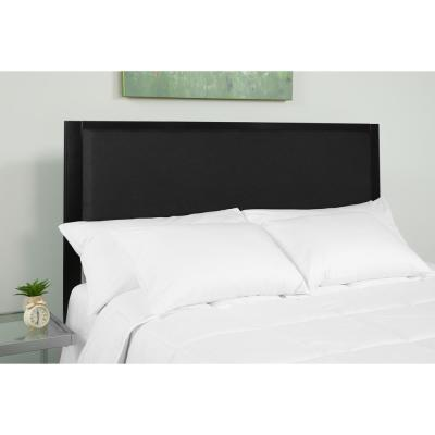 Melbourne Metal Upholstered Queen Size Headboard in Black Fabric
