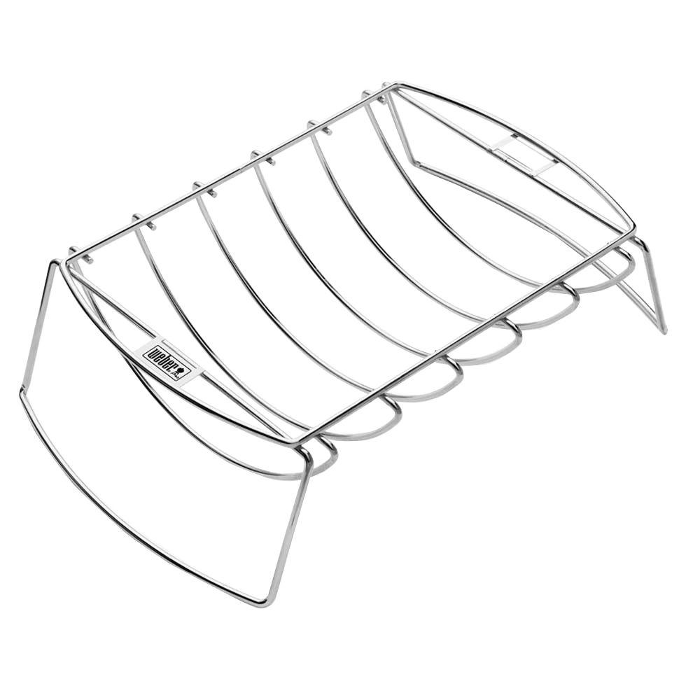 weber stainless steel rib and roast holder 6469 the home depot Barbecue Rib Dinner weber stainless steel rib and roast holder