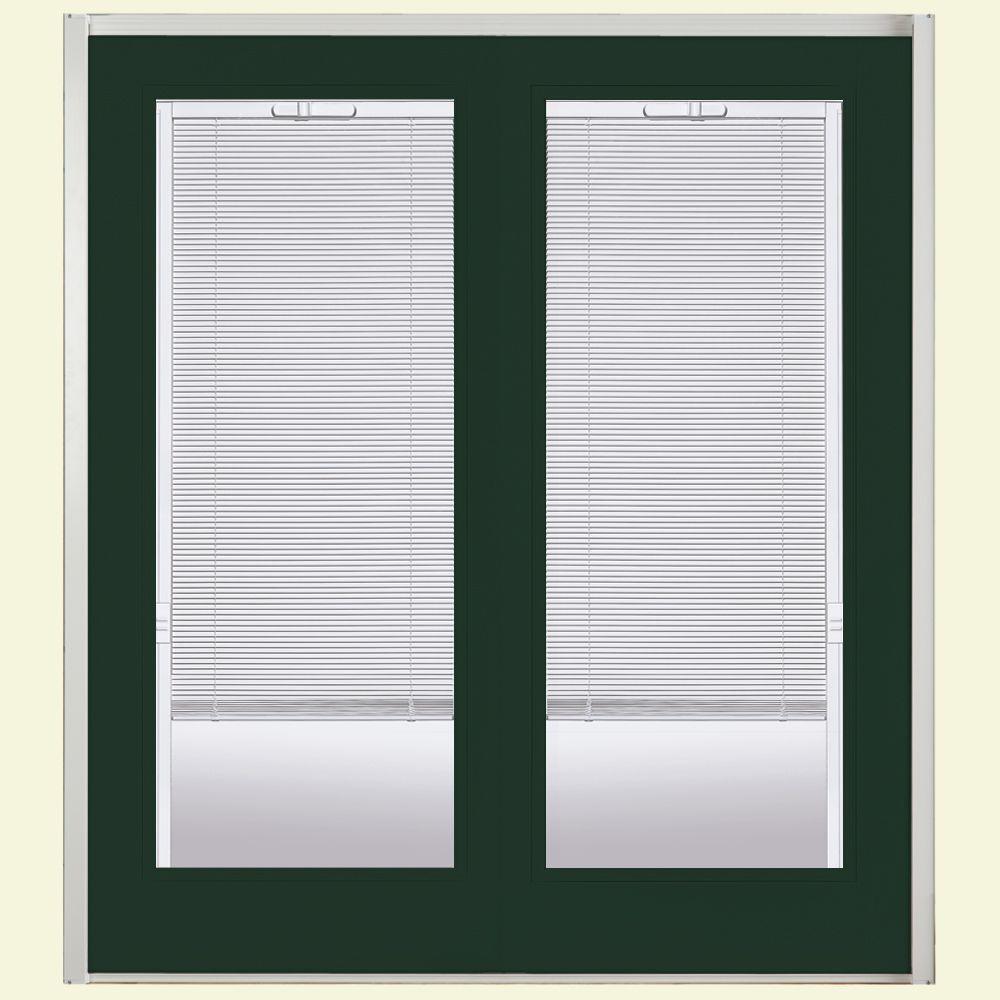 Primed Prehung Mini Blind Steel Patio Door with Brickmold