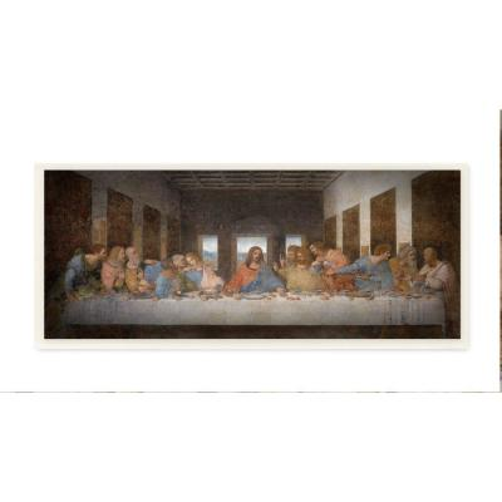 "7 in. x 17 in. ""Da Vinci The Last Supper Religious Classical Painting"" by Leonardo Da Vinci Wood Wall Art"