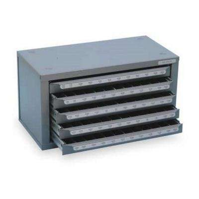 14-5/8 in. 5-Drawer Silver and Deming Drill Bit Tool Case