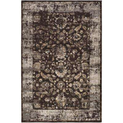 Kaitlyn Dark Brown 5 ft. x 8 ft. Indoor Area Rug