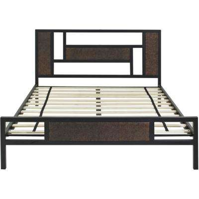 Hyde Park Black Metal Full Platform Bed