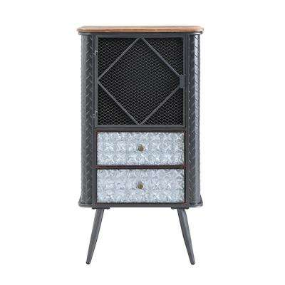 Forester Wood and Metal Bookcase