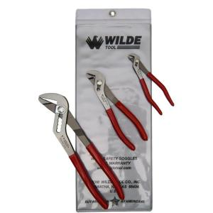 Wilde Tool 5 inch x 6-3/4 inch Angle Nose Slip Joint Pliers Set (3-Piece) by Wilde Tool