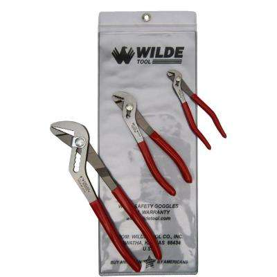5 in. x 6-3/4 in. Angle Nose Slip Joint Pliers Set (3-Piece)