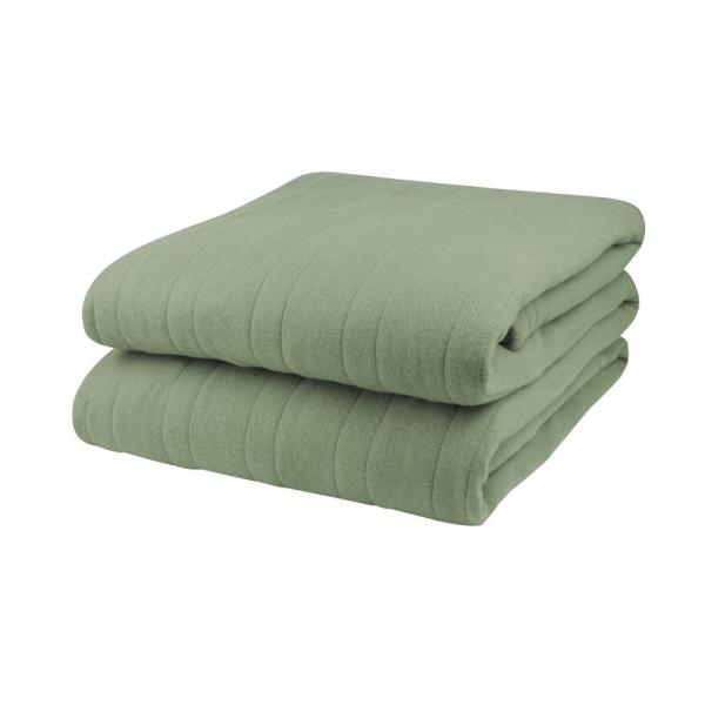 1003 Series Comfort Knit Heated 84 in. x 90 in. Sage Queen Blanket