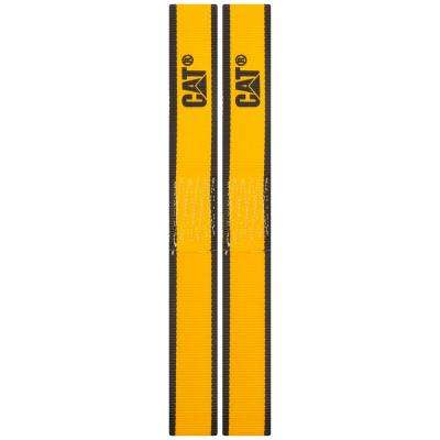 1-1/2 in. x 12 in., 1000 lbs. Load Capacity Soft Loop Tie-Down Straps in Yellow (2-Piece)