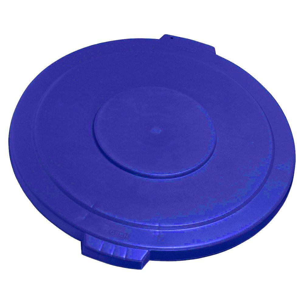 Carlisle Bronco 44 Gal. Blue Round Trash Can Lid (3-Pack)