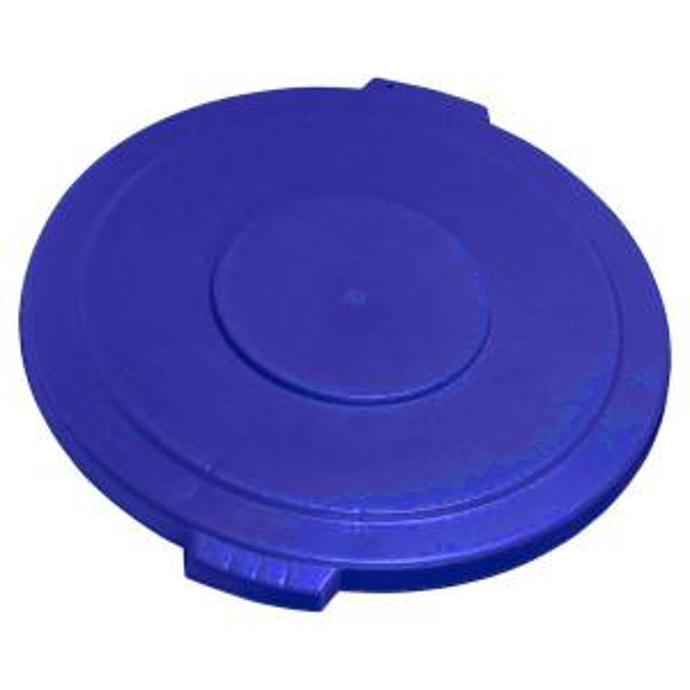 Carlisle Bronco 44 Gal. Blue Round Trash Can Lid (3-Pack) by Carlisle