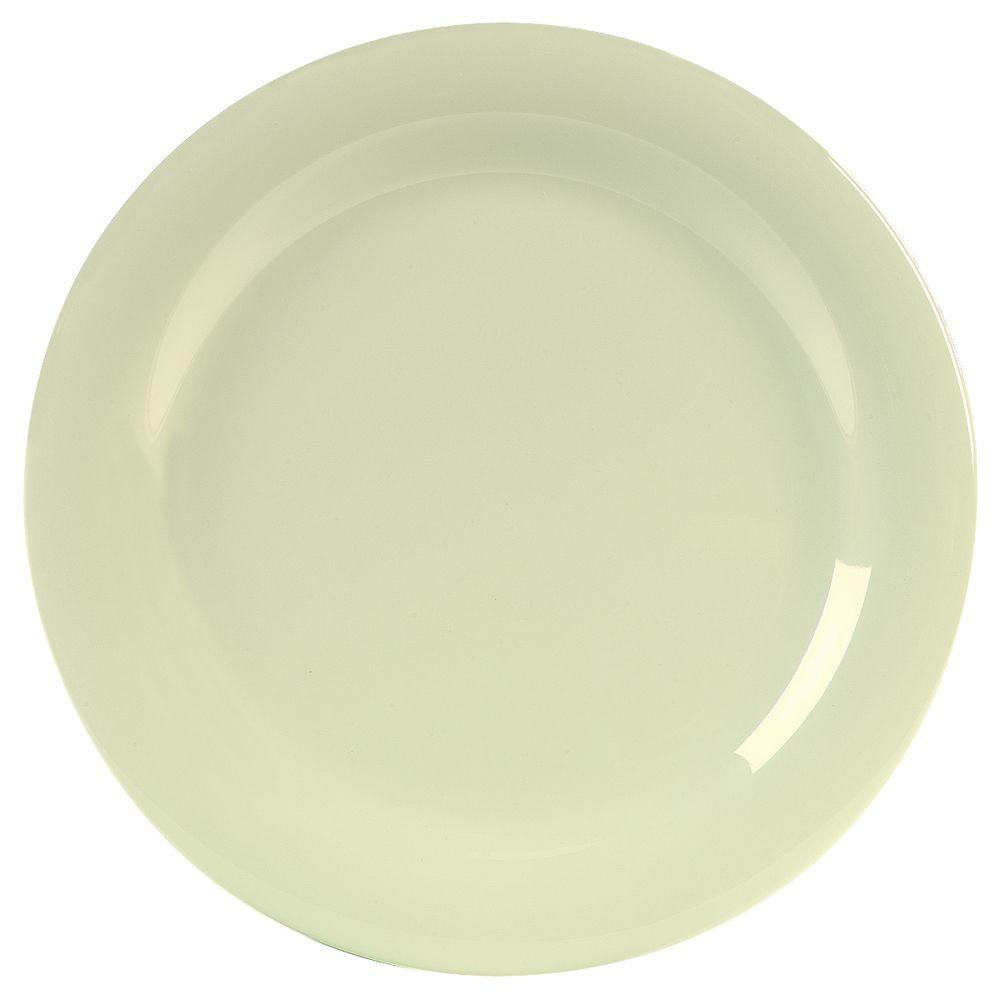 10.5 in. Diameter Melamine Narrow Rim Dinner Plate in Bone (Case