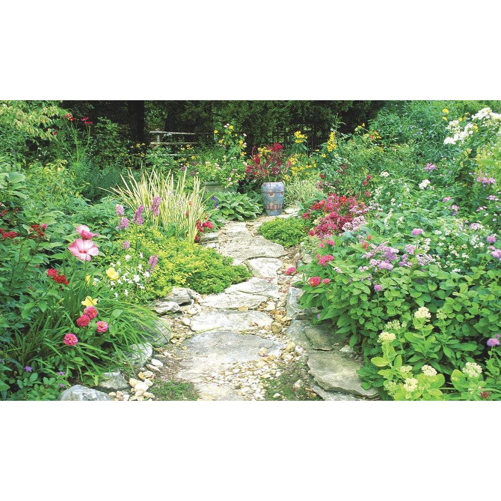 100 in. x 60 in. Window Well Scene - Garden