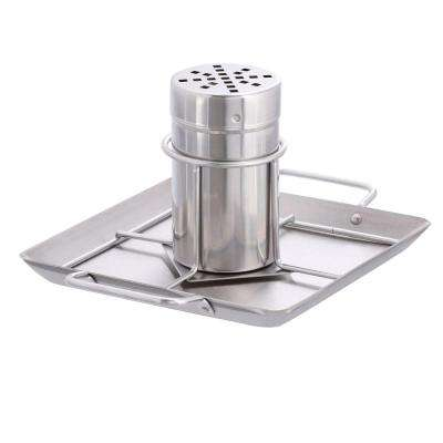 Stainless Steel Beer Can Chicken Roaster with Drip Pan