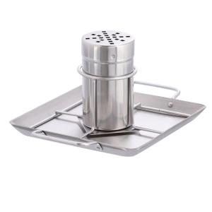 Click here to buy Steven Raichlen Stainless Steel Beer Can Chicken Roaster with Drip Pan by Steven Raichlen.