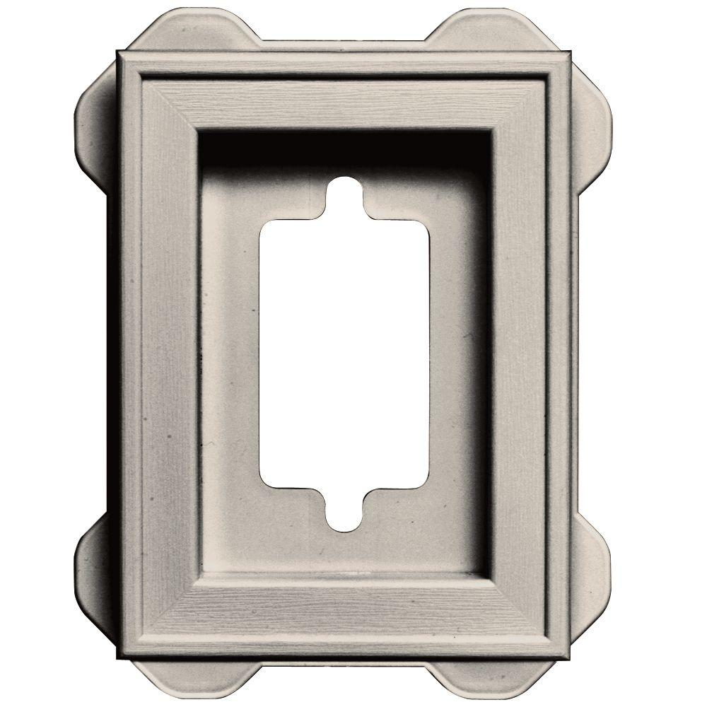 Builders Edge 5 in. x 6.75 in. #048 Almond Recessed Mini Universal Mounting Block