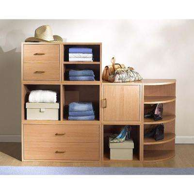 30 in. Honey 2-Drawer Large Cube