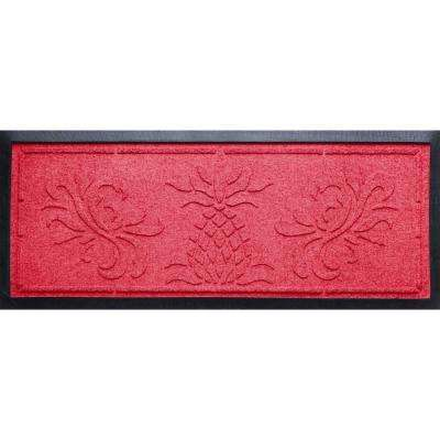 Solid Red 15 in. x 36 in. x 0.5 in. Pineapple Boot Tray