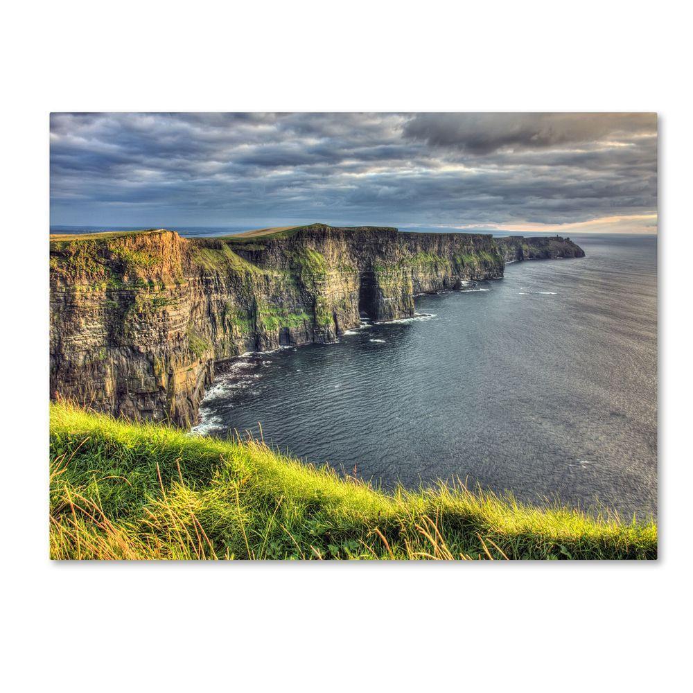 Trademark Fine Art 30 in. x 47 in. Cliffs of Moher Ireland Canvas Art