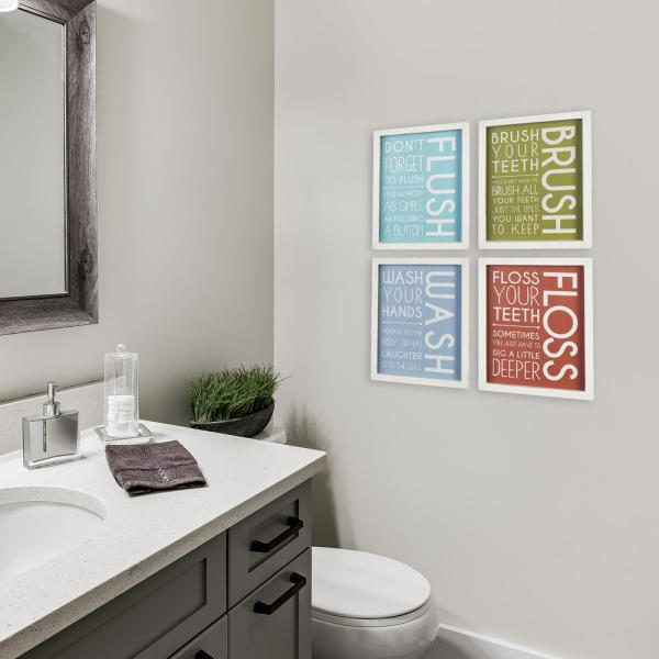 Stratton Home Decor Bathroom Wall Art Set Of 4 S33532 The Home Depot
