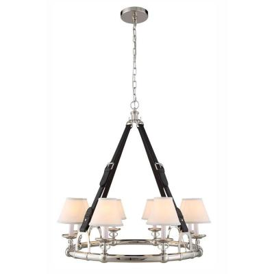 Cascade 8-Light Polished Nickel Pendant Lamp
