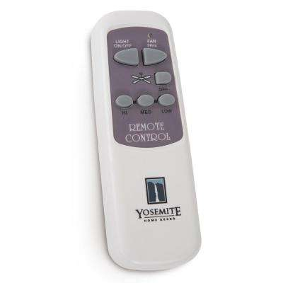 Remote Control for Ceiling Fans with 6 in. Motor Use