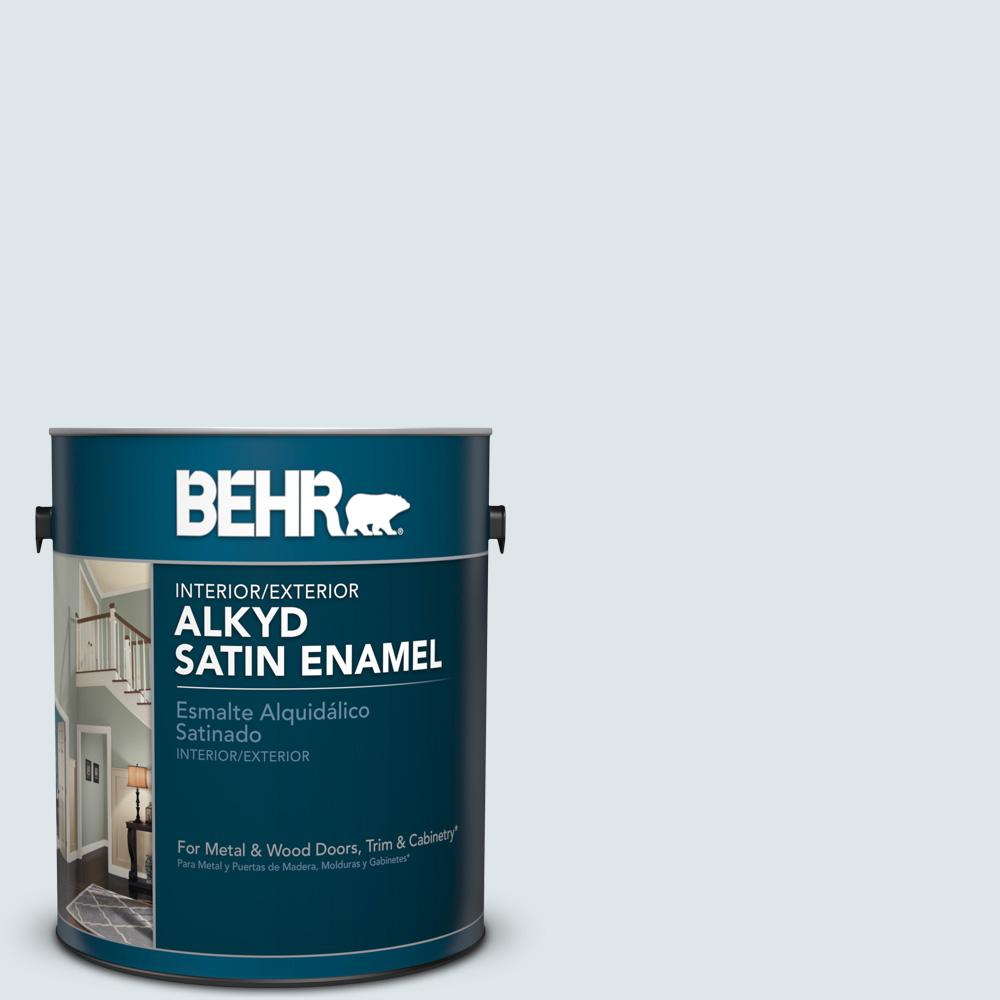 1 gal. #BL-W3 Blue Bird Day Satin Enamel Alkyd Interior/Exterior Paint