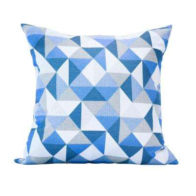 Ruskin Blue Square Accent Lounge Throw Pillow