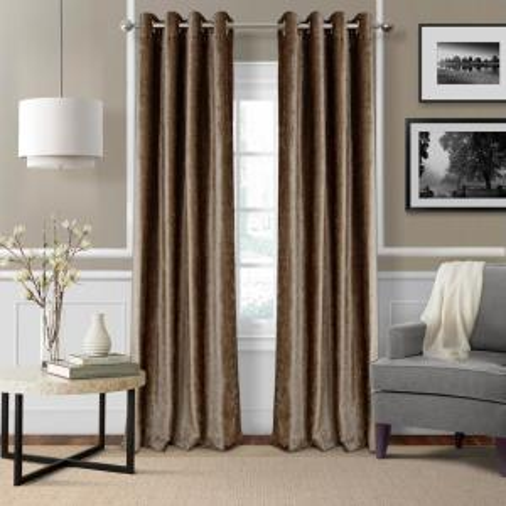 Blackout Victoria Bronze Blackout Grommet Window Curtain Panel - 52 inch W x 95 inch L by