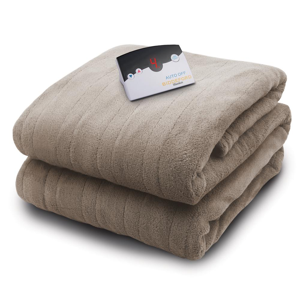 Biddeford Blankets 2030 Series Micro Plush Heated 62 In X 84 In