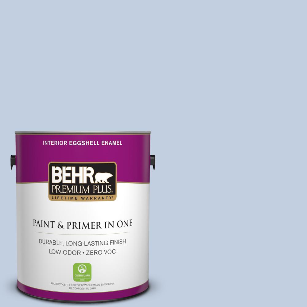 BEHR Premium Plus 1-gal. #580E-2 Saltwater Zero VOC Eggshell Enamel Interior Paint